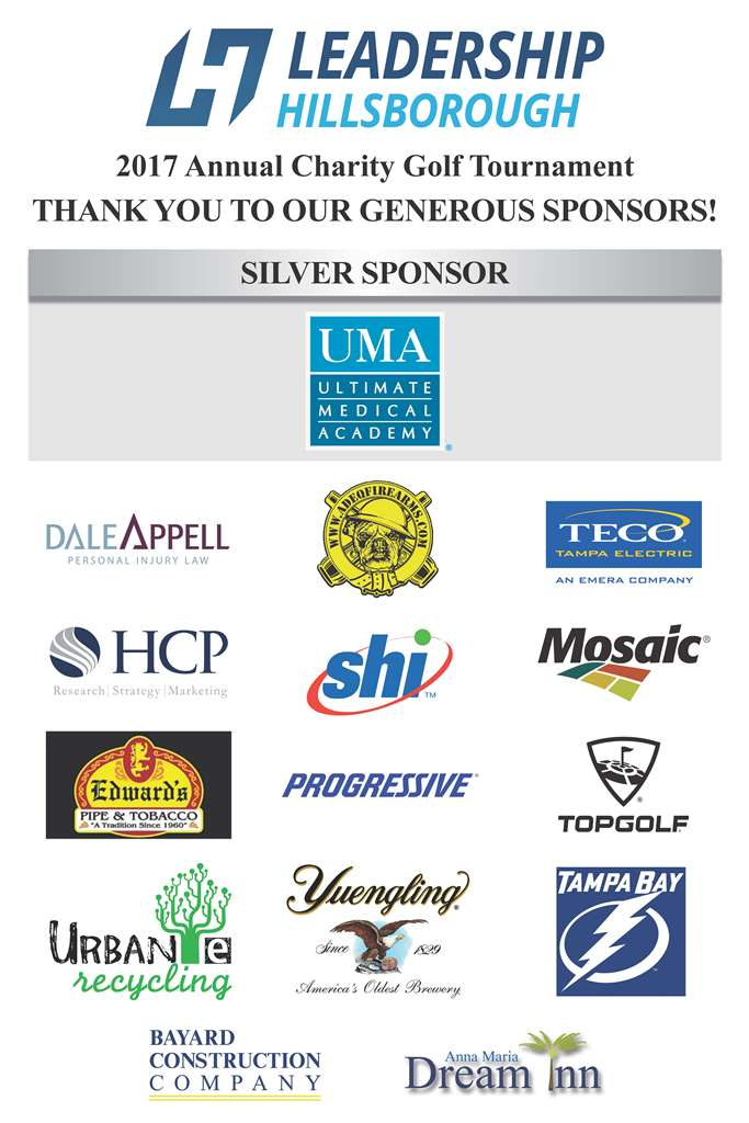 Leadership Hillsborough 3rd Annual Charity Golf Tournament Sponsors